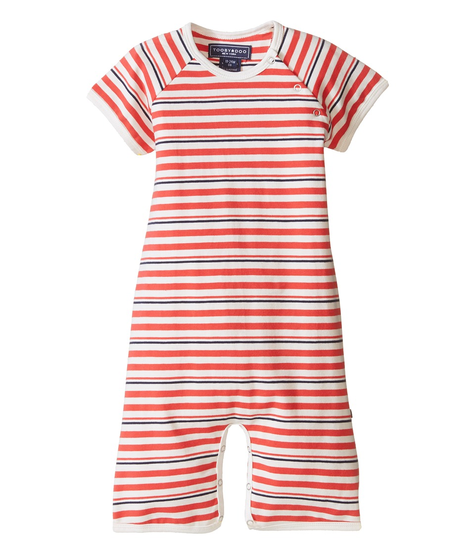 Toobydoo - Red/Navy Shortie Jumpsuit (Infant) (Red/White/Navy) Boy's Jumpsuit & Rompers One Piece