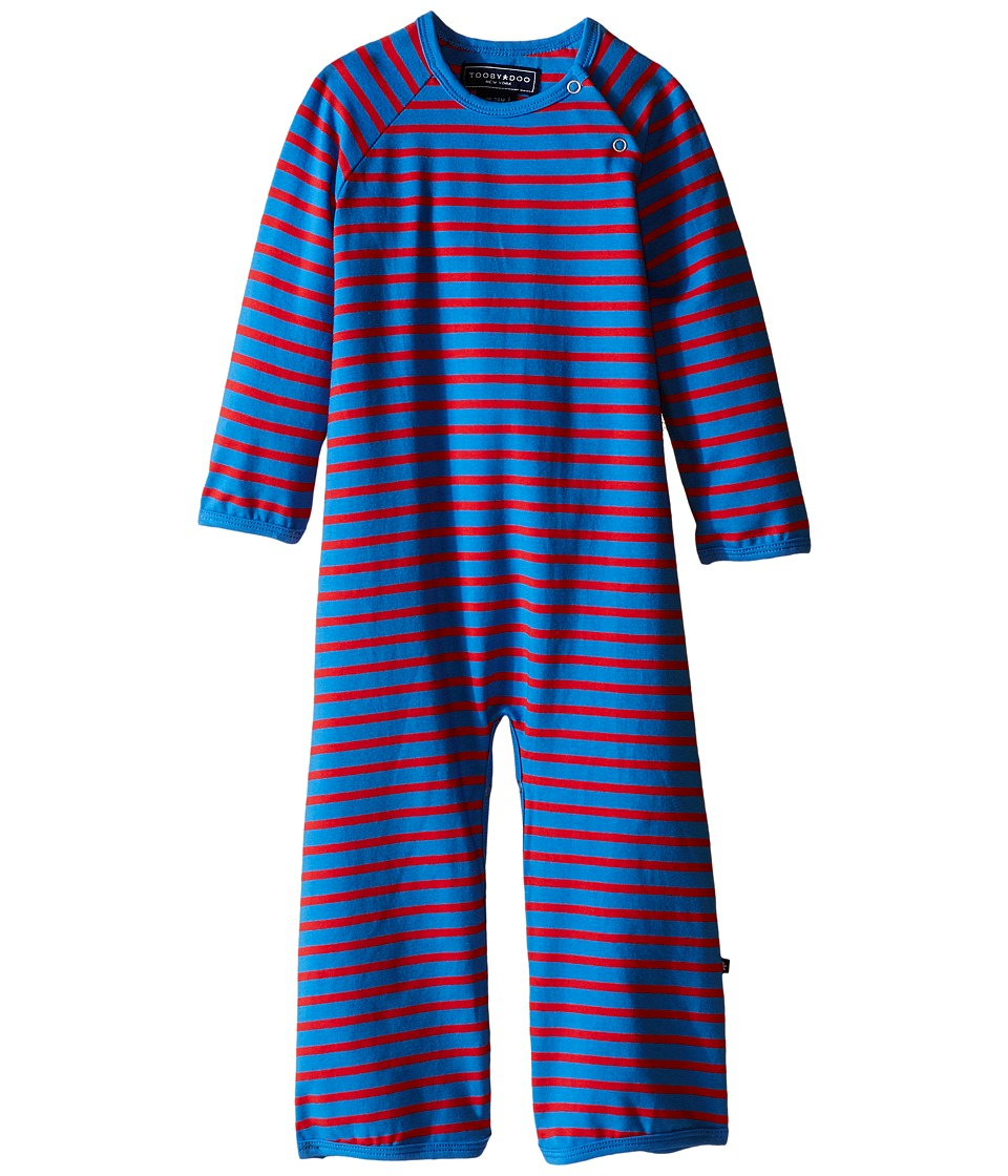 Toobydoo - Royal Blue/Red Long Sleeve Bootcut Jumpsuit (Infant) (Royal Blue/Red) Boy's Jumpsuit & Rompers One Piece