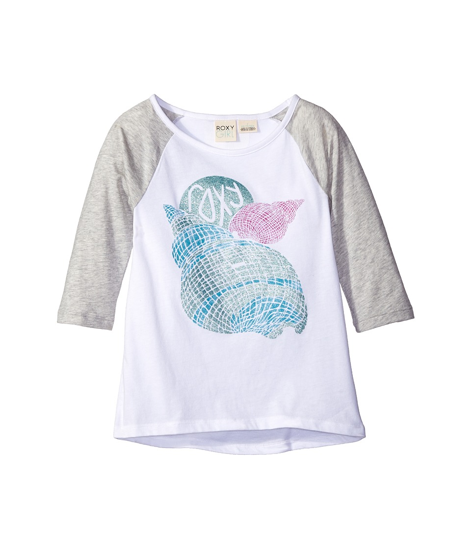 Roxy Kids - Boardwalk 3/4 Sleeve Tee (Big Kids) (Medium Heather) Girl's Short Sleeve Pullover