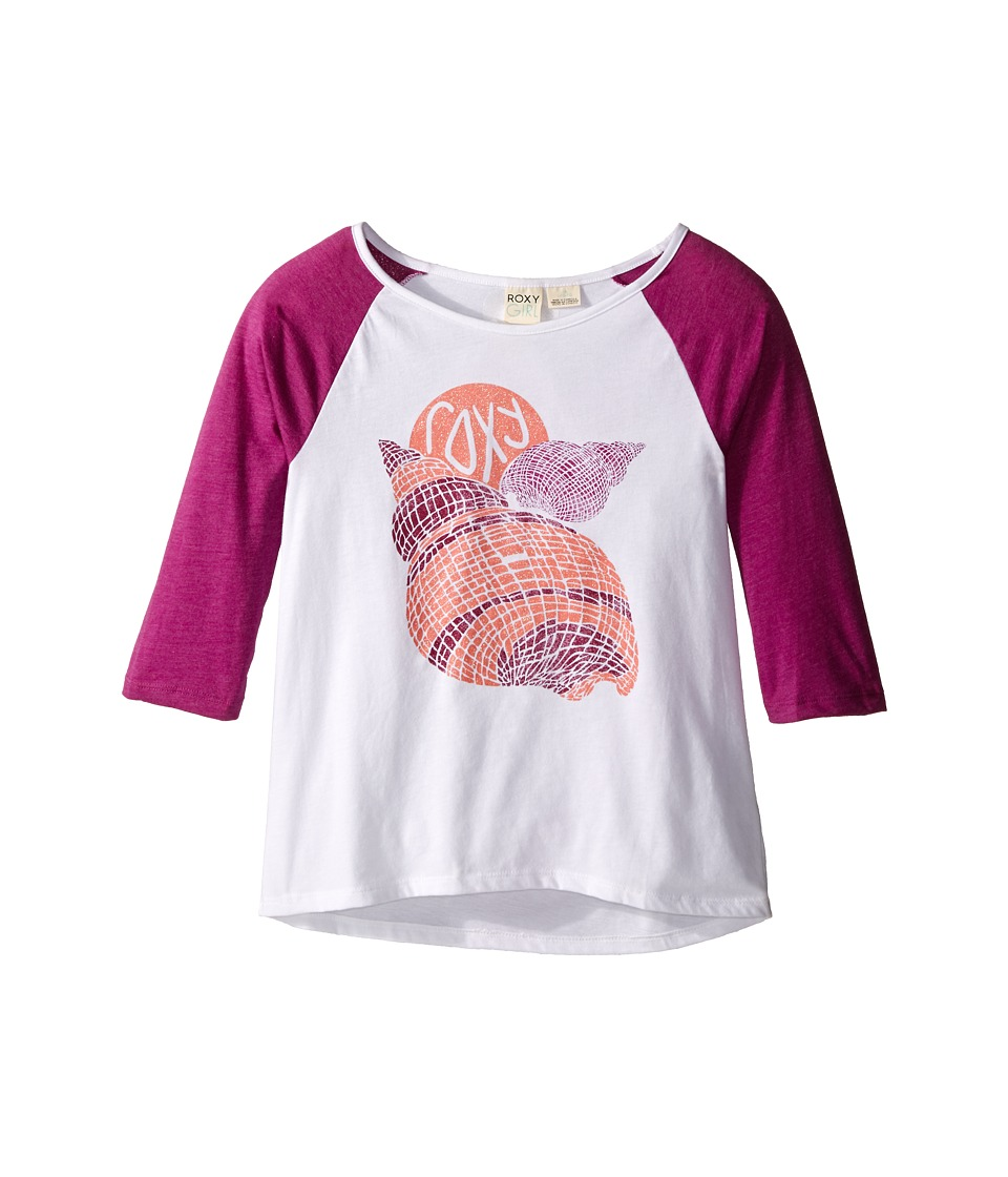 Roxy Kids - Boardwalk 3/4 Sleeve Tee (Big Kids) (Sea Salt) Girl's Short Sleeve Pullover