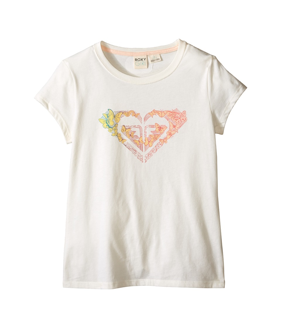 Roxy Kids - Fluttr By Short Sleeve Tee (Big Kids) (Sea Spray) Girl's Short Sleeve Pullover