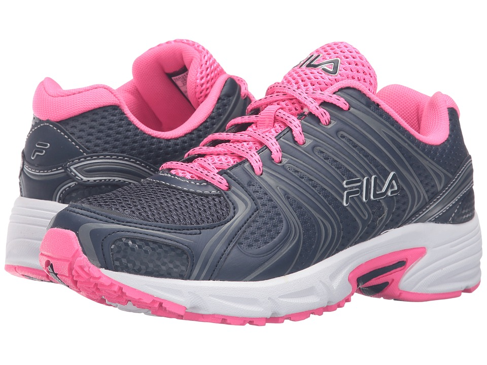 Fila - Varigate (Fila Navy/Knockout Pink/Metallic Silver) Women