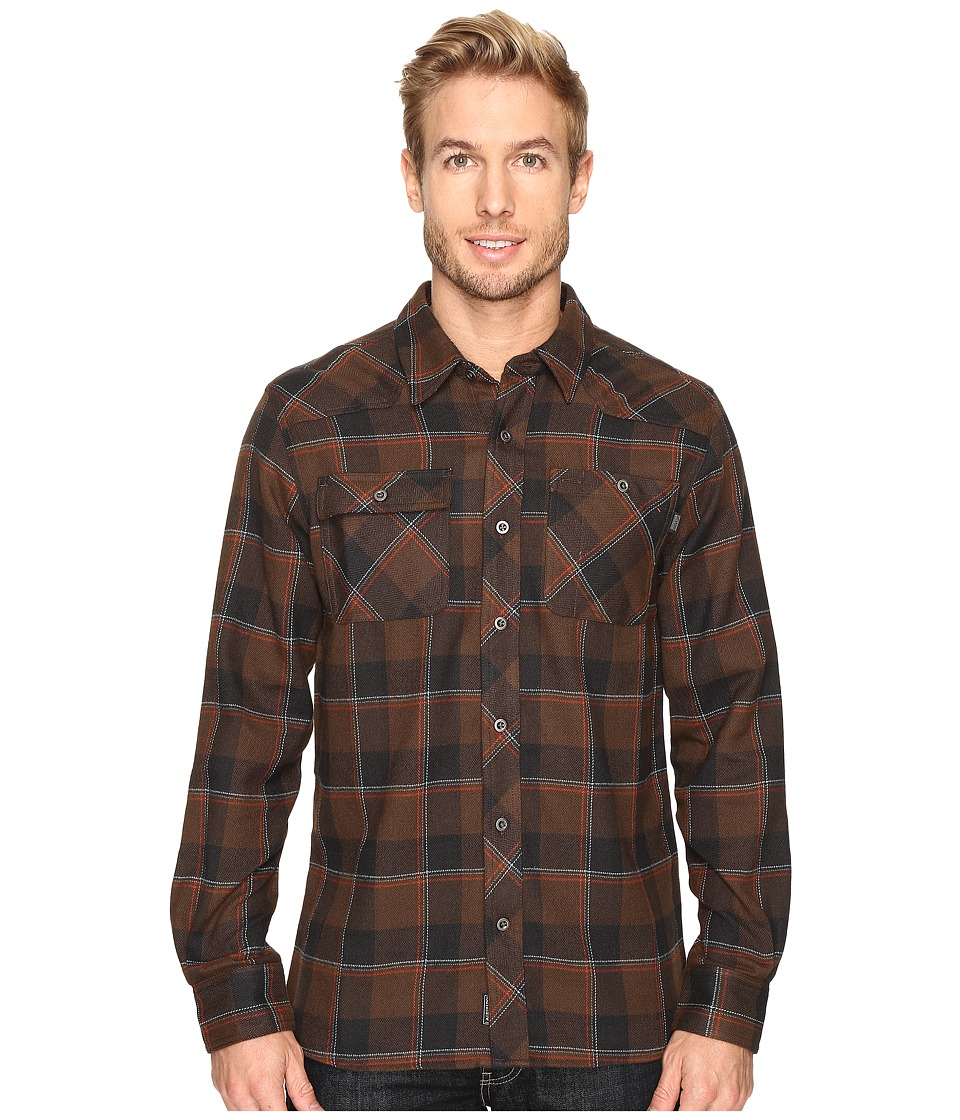Outdoor Research - Feedback Flannel Shirt (Earth/Black) Men's Long Sleeve Button Up