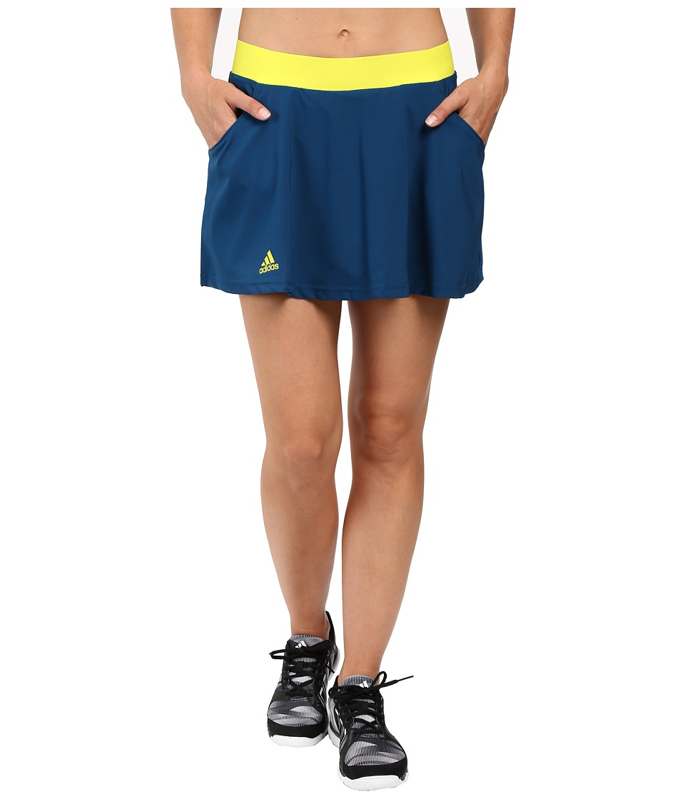adidas - Club Skort (Tech Steel/Shock Slime) Women's Skort