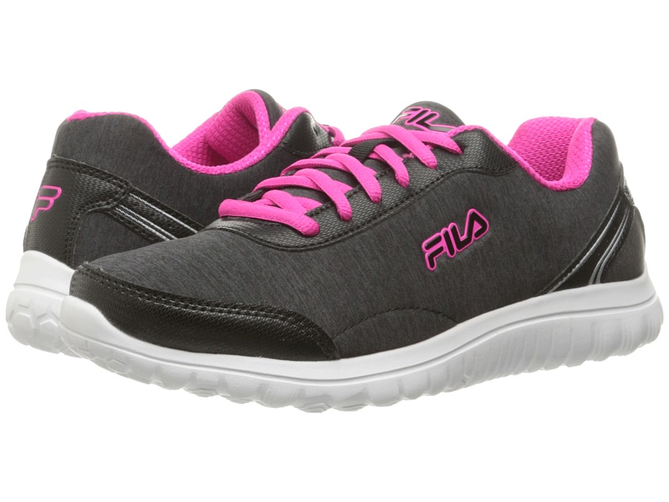 Fila - Lite Spring Heather (Black/White/Pink Glo) Women's Shoes