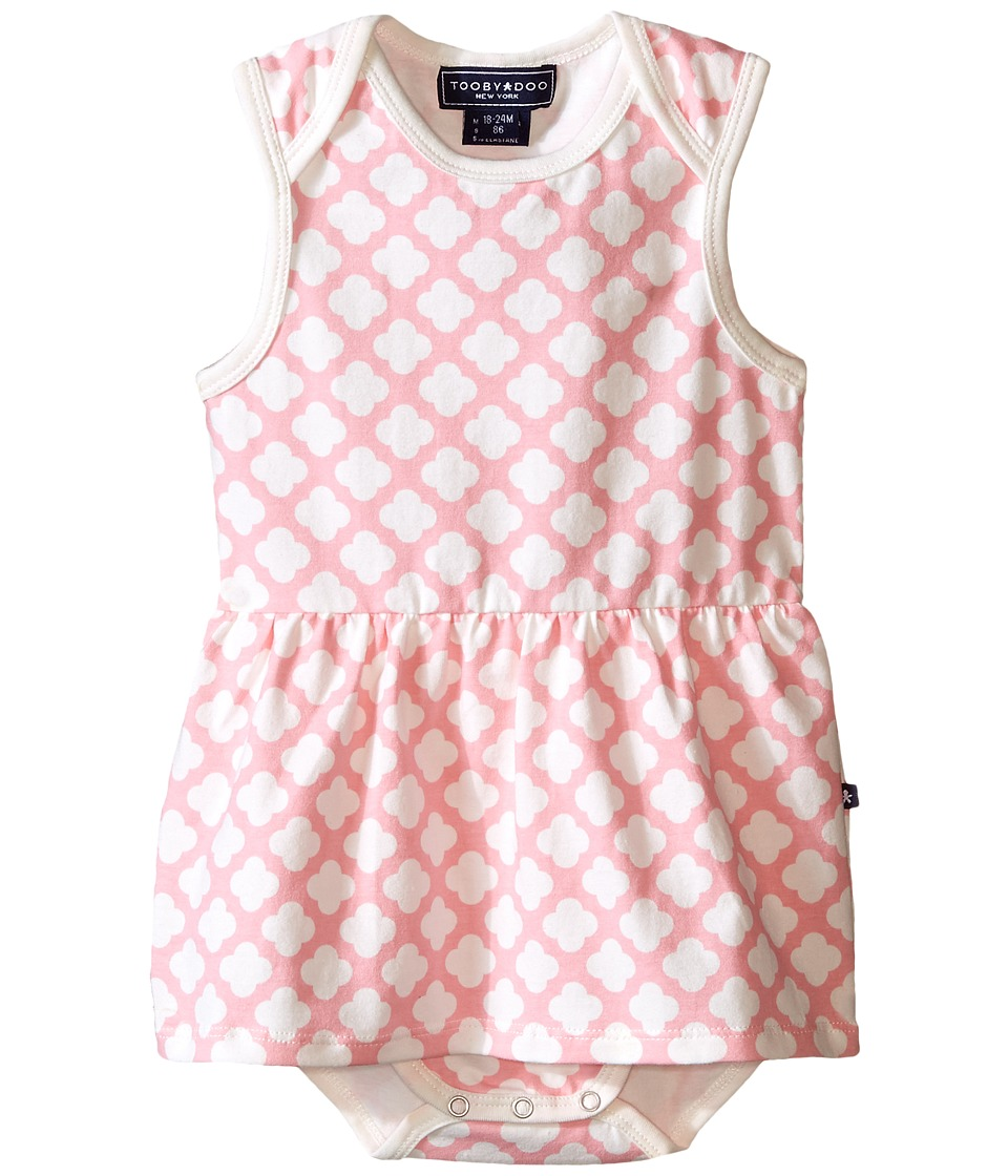 Toobydoo - Pink/White Romper Dress (Infant) (Pink/White) Girl's Jumpsuit & Rompers One Piece
