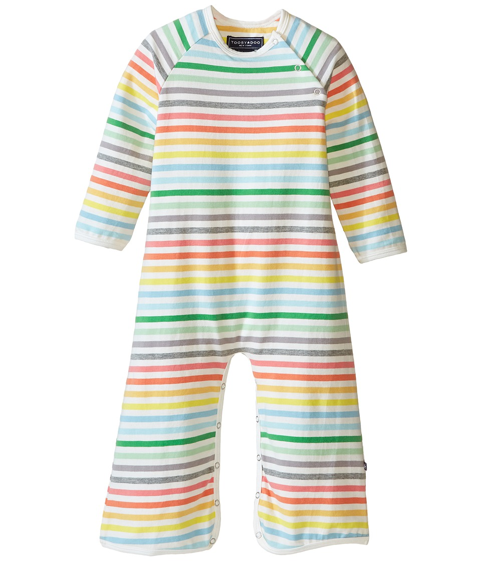 Toobydoo - Rainbow Stripe Long Sleeve Bootcut Jumpsuit (Infant) (Rainbow) Girl's Jumpsuit & Rompers One Piece