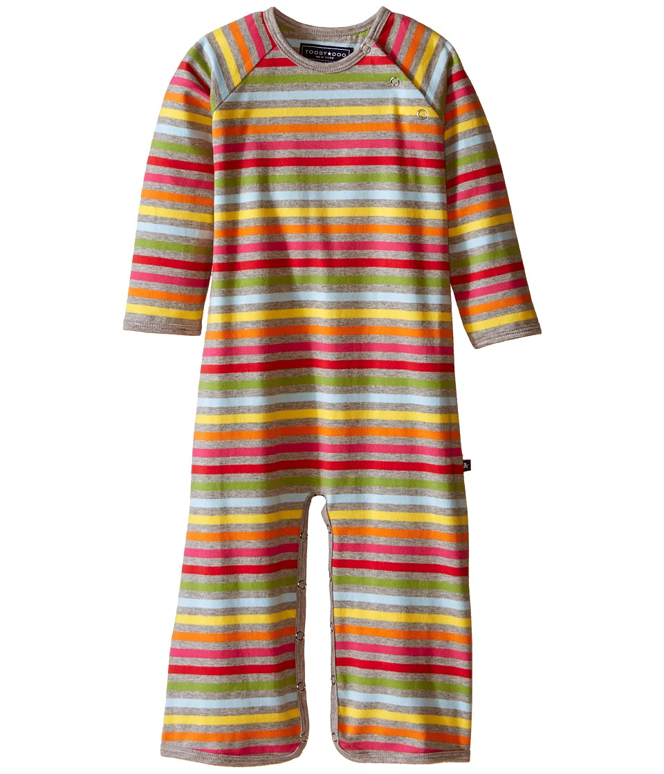 Toobydoo - Rainbow/Grey Long Sleeve Jumpsuit (Infant) (Red/Pink/Orange/Yellow/Blue/Grey) Girl's Jumpsuit & Rompers One Piece