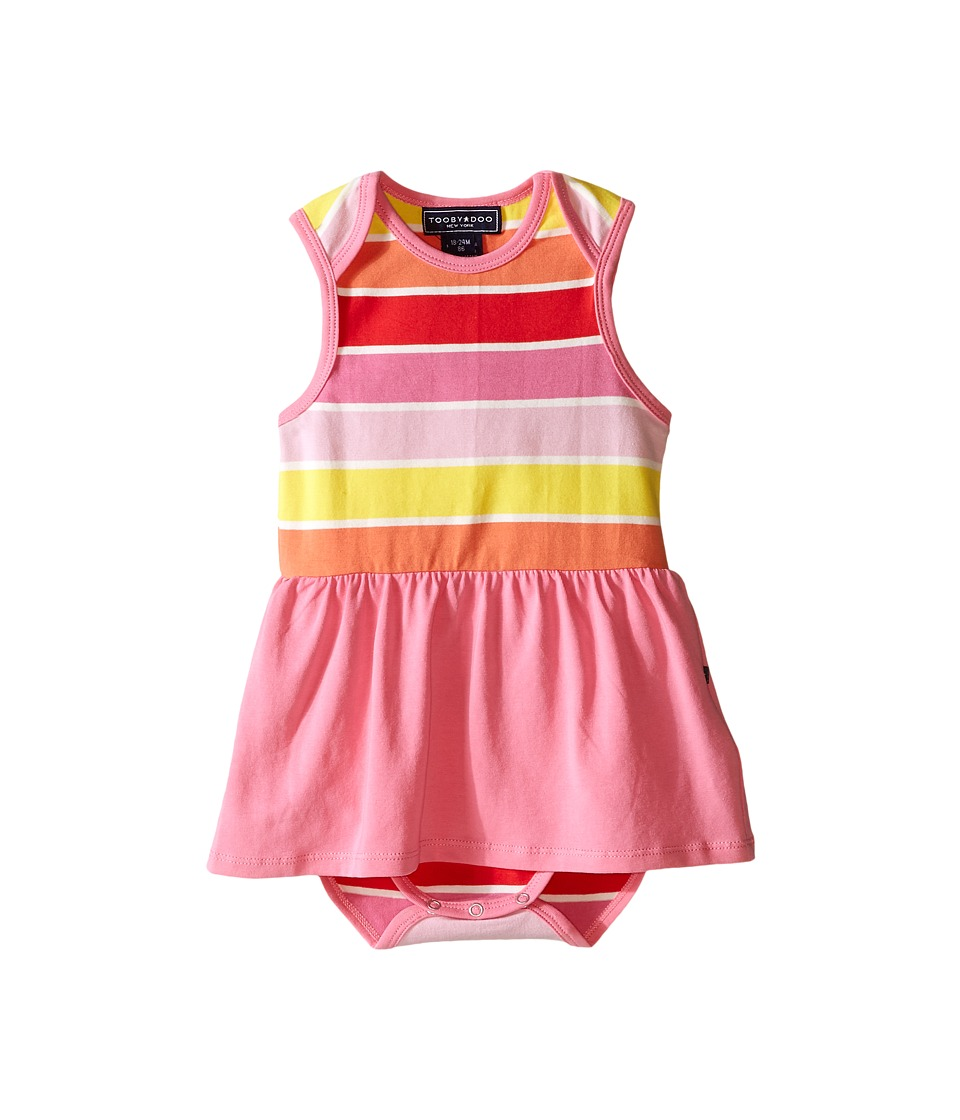 Toobydoo - Pink Romper Dress (Infant) (Yellow/Orange/Red/Pink) Girl's Jumpsuit & Rompers One Piece
