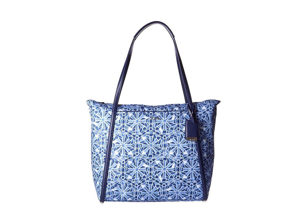 Tumi - Q-Tote (Moroccan Blue Tile) Tote Handbags