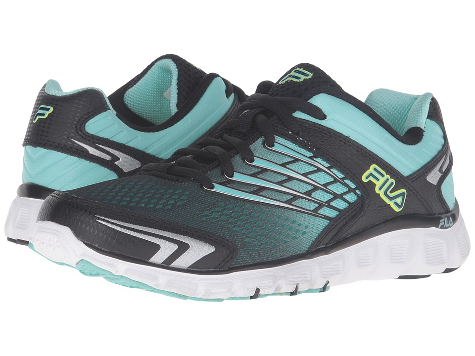 Fila - Memory Arizer (Black/Aruba Blue/Metallic Silver) Women