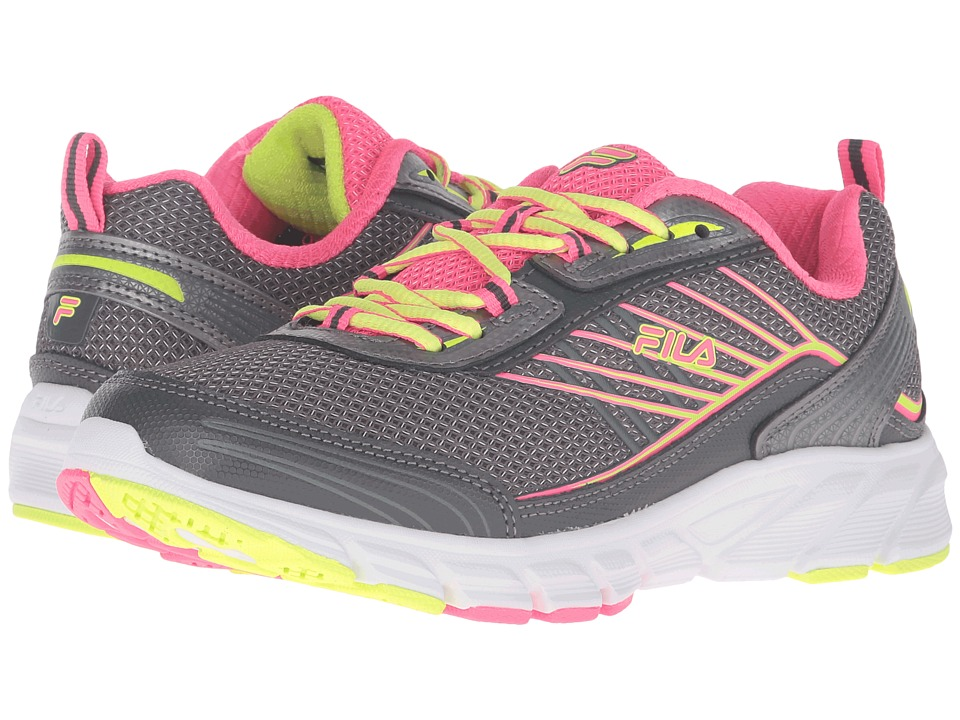 Fila - Forward 3 (Dark Silver/Knockout Pink/Safety Yellow) Women's Shoes