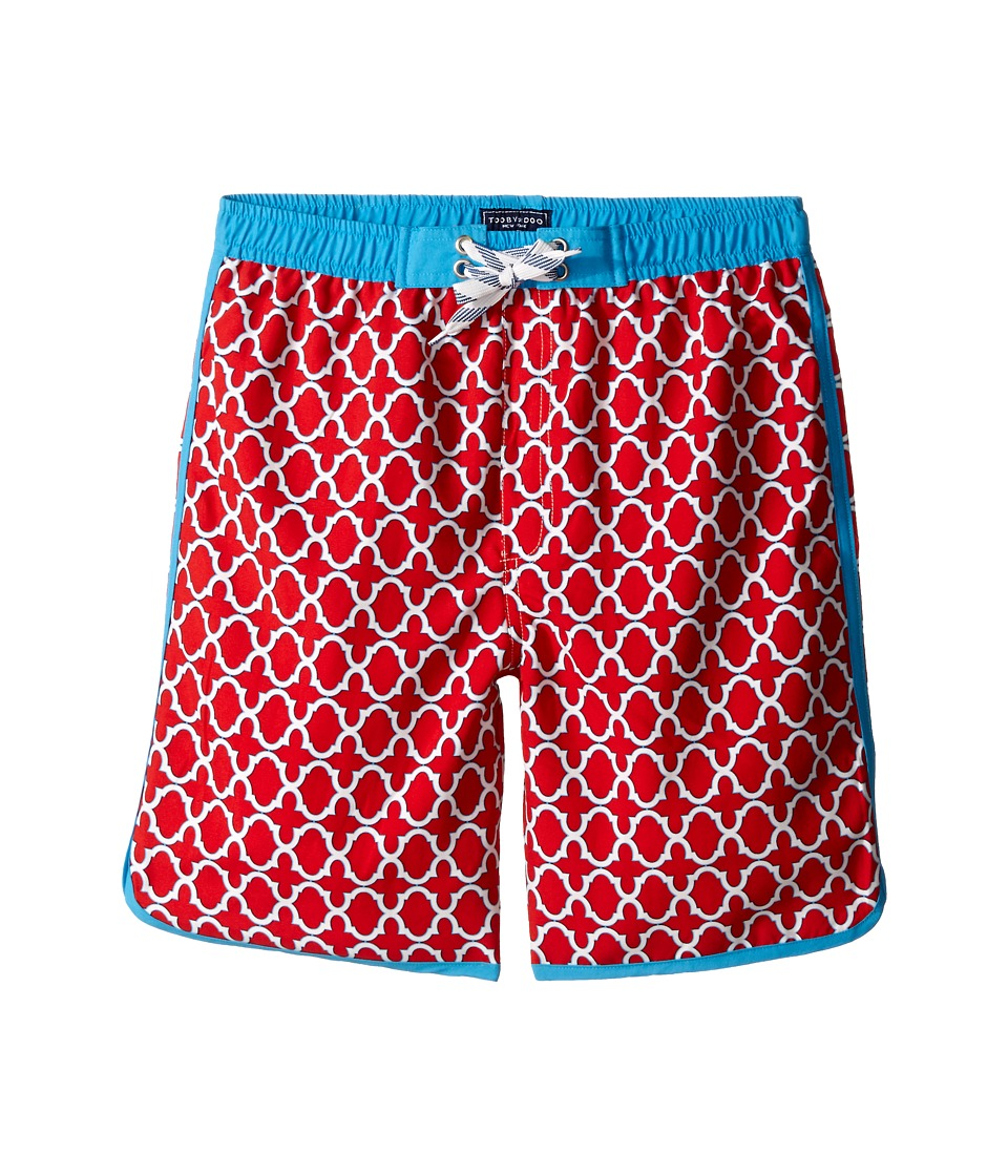Toobydoo - White Lace Drawstring Boardshorts (Infant/Toddler/Little Kids/Big Kids) (Red/Blue/White) Boy's Swimwear