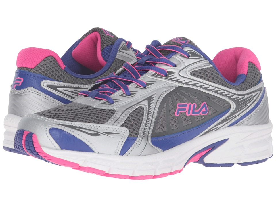 Fila - Omnispeed (Dark Silver/Royal Blue/Pink Glo) Women's Shoes