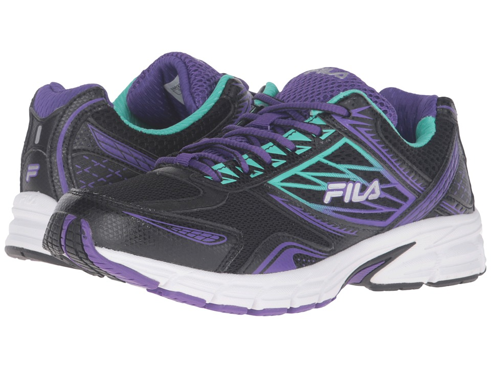 Fila - Royalty 2 (Black/Electric Purple/Cockatoo) Women's Shoes