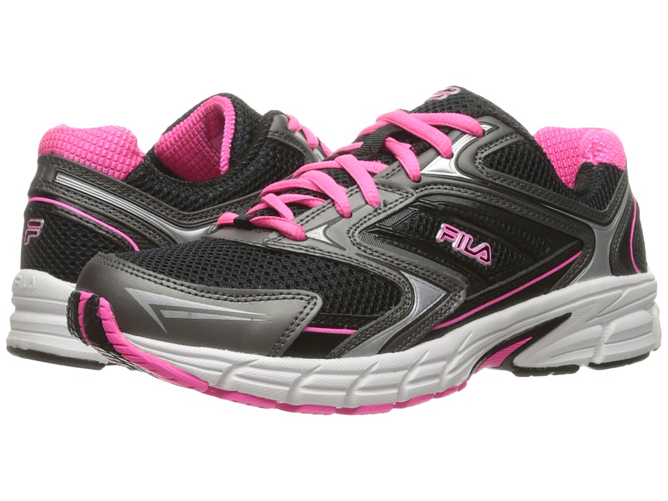 Fila - Xtent 4 (Black/Dark Silver/Knockout Pink) Women's Shoes
