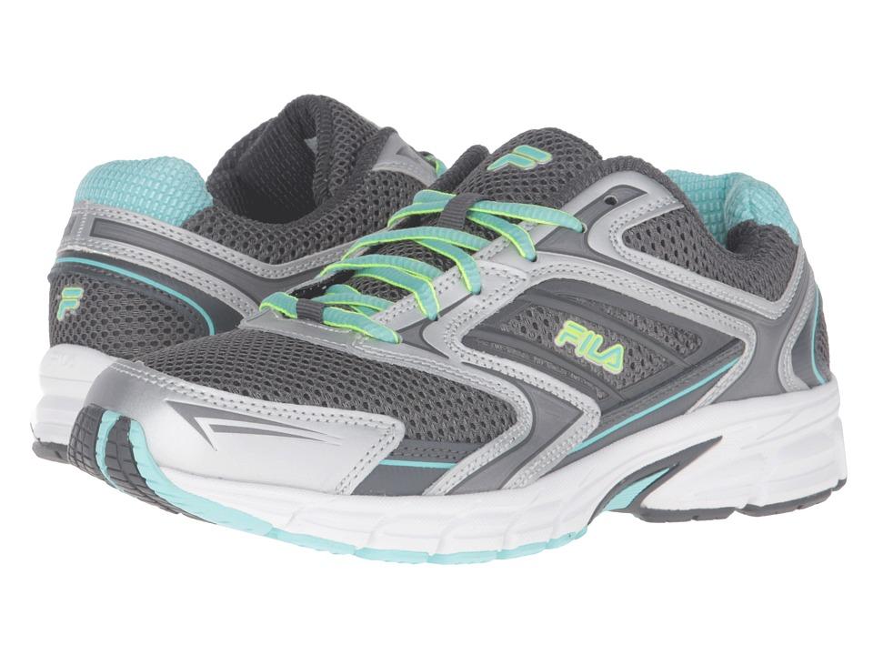 Fila - Xtent 4 (Dark Silver/Dark Shadow/Aruba Blue) Women's Shoes