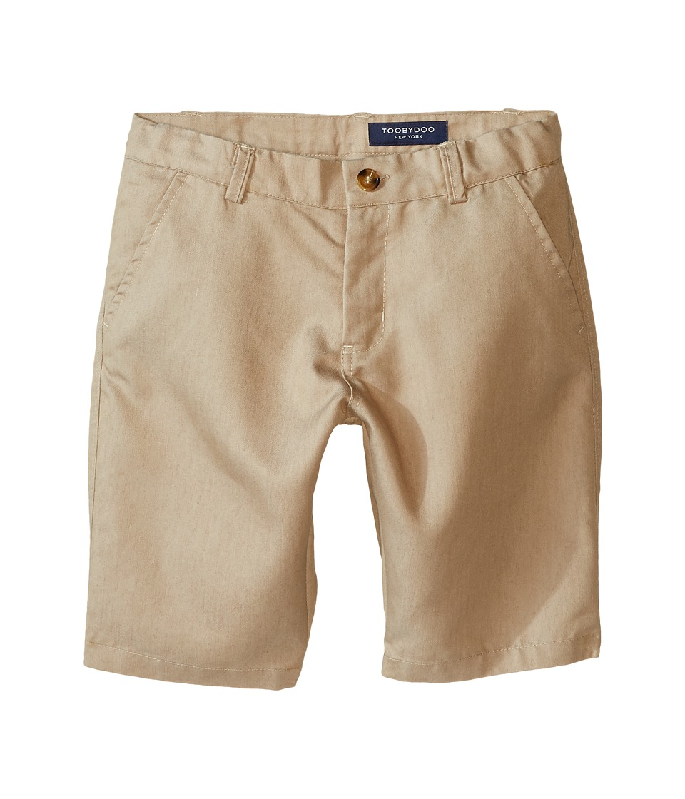 Toobydoo - Woven Cotton Shorts (Infant/Toddler/Little Kids/Big Kids) (Khaki) Boy's Shorts