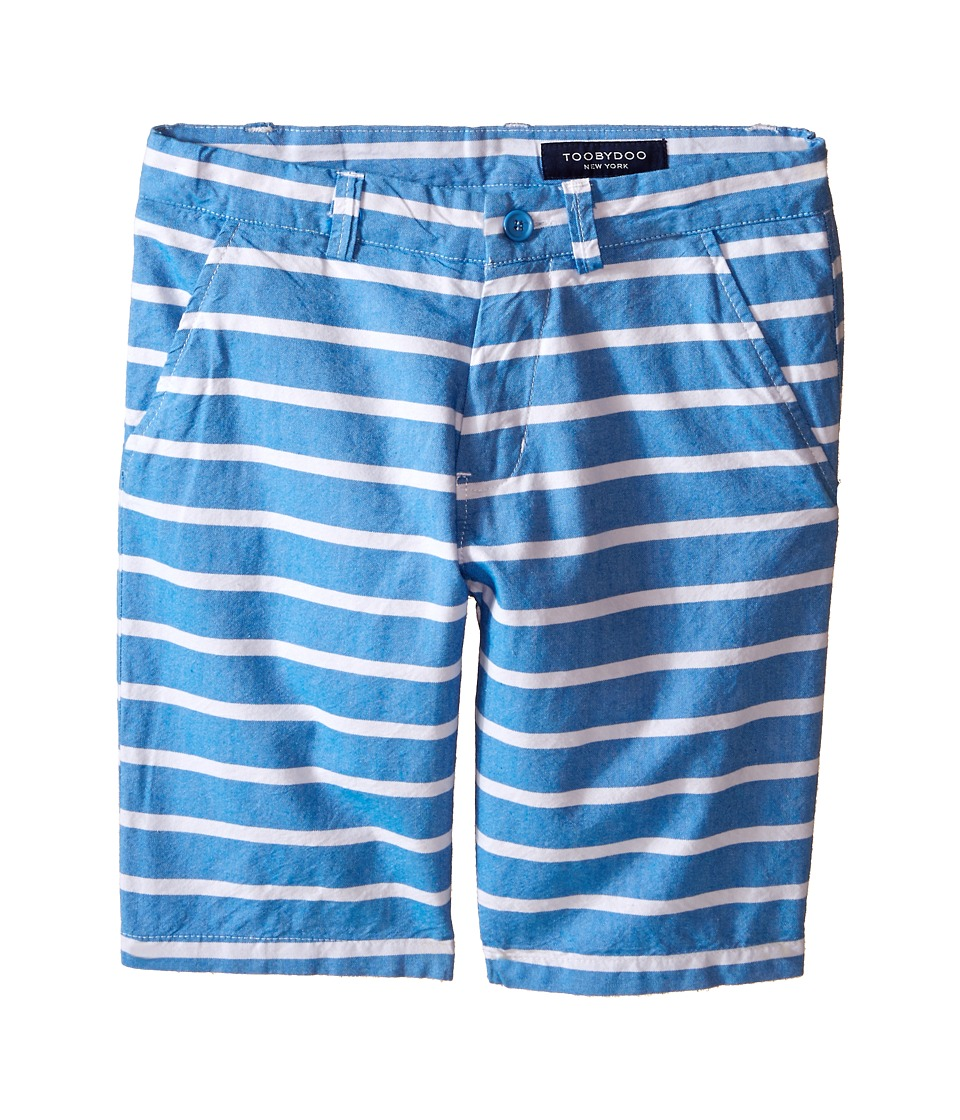 Toobydoo - Woven Cotton Shorts (Infant/Toddler/Little Kids/Big Kids) (Blue/White Stripes) Boy's Shorts