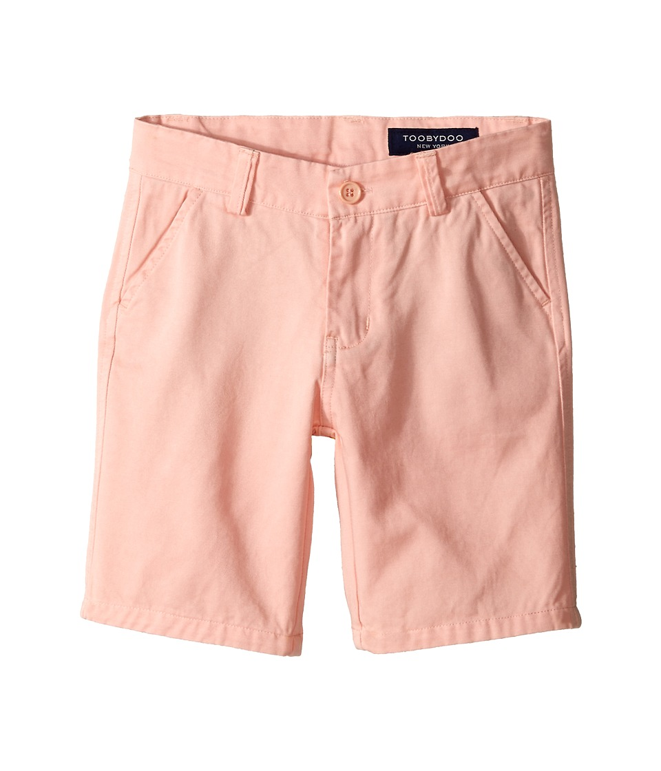 Toobydoo - Woven Cotton Shorts (Toddler/Little Kids/Big Kids) (Light Orange) Boy's Shorts