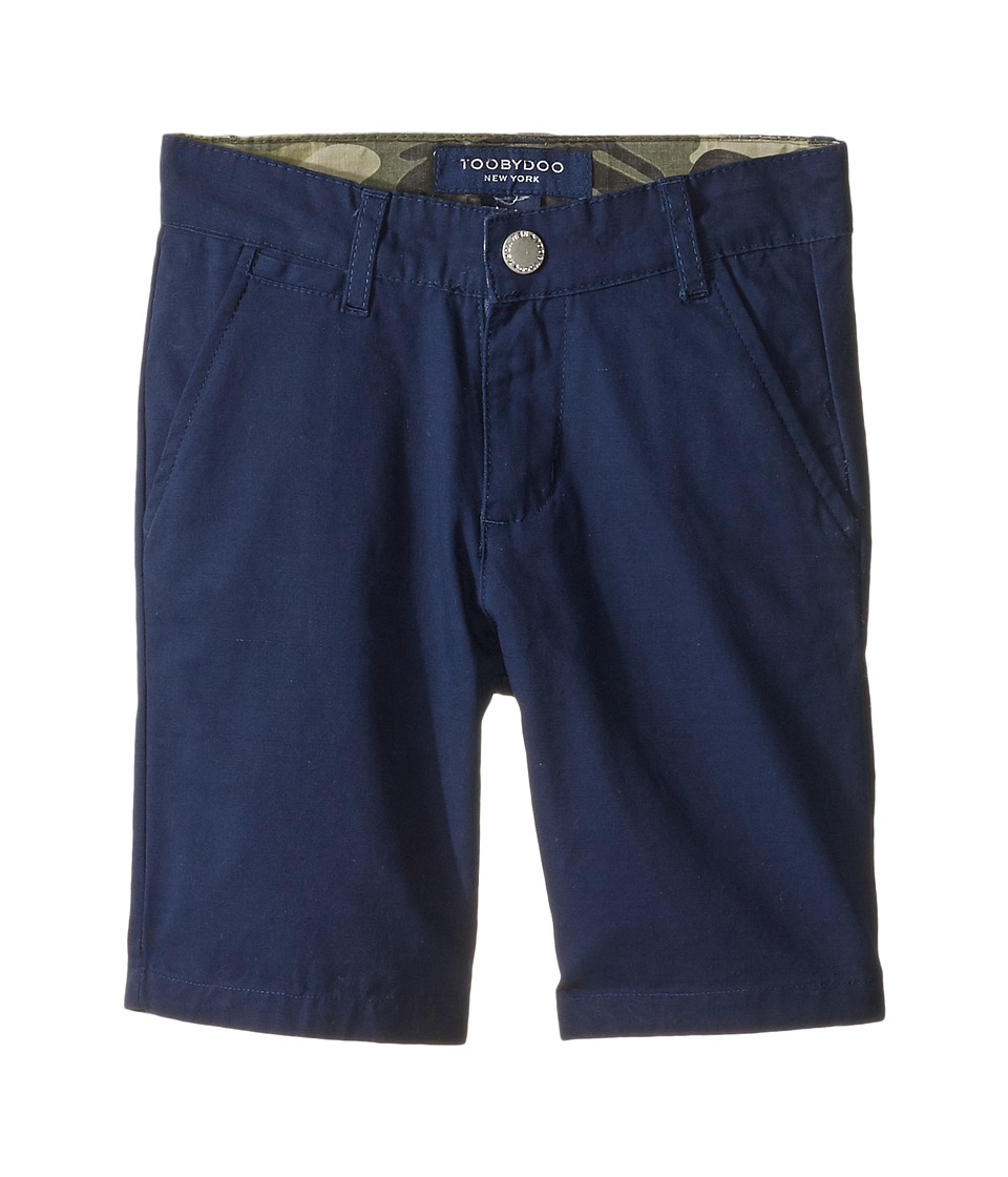 Toobydoo - Woven Cotton Shorts (Infant/Toddler/Little Kids/Big Kids) (Navy) Boy's Shorts