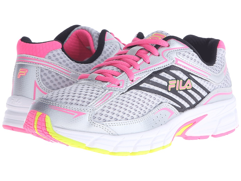 Fila - Xtenuate (Metallic Silver/Knockout Pink/Safety) Women's Shoes