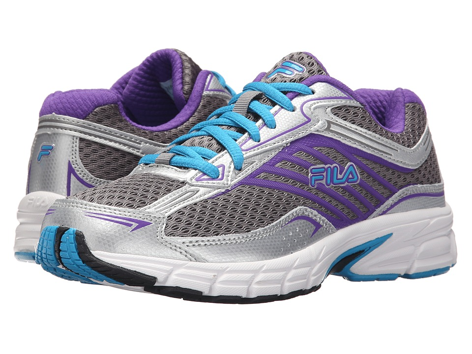 Fila Xtenuate (Dark Silver/Metallic Silver/Atomic Blue) Women