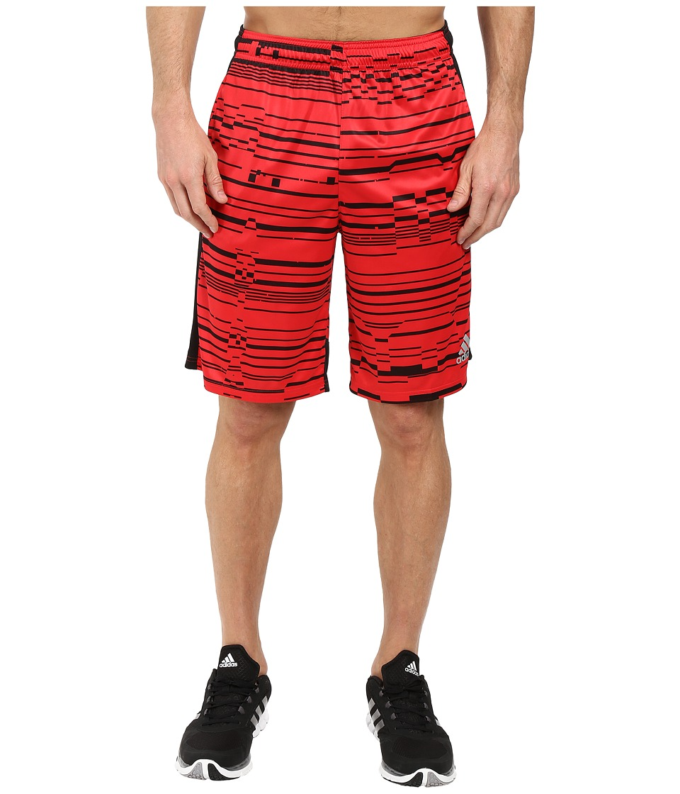 adidas - Climacore Shorts Sport Glitch (Ray Red/Black/Black) Men's Shorts