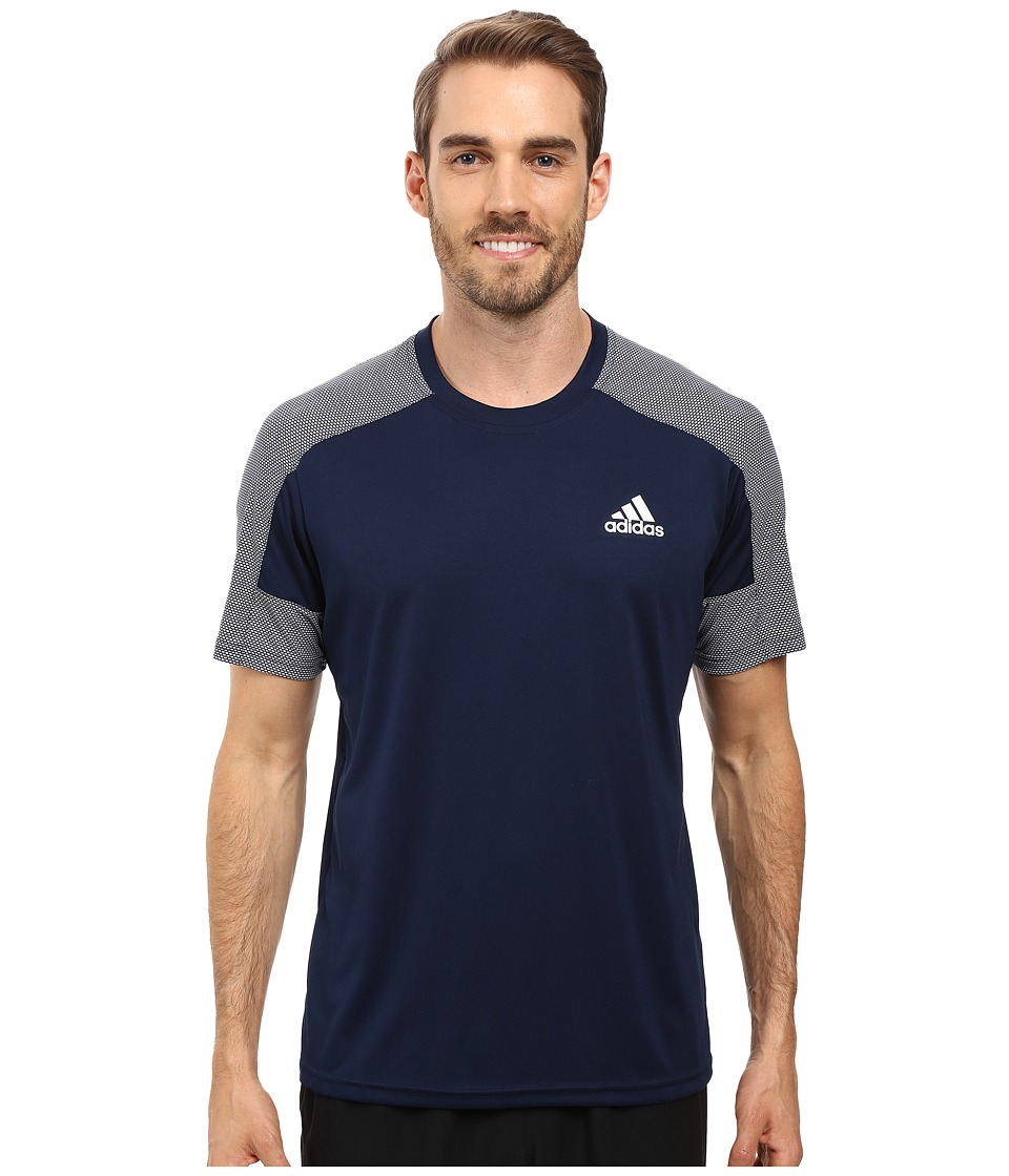 adidas - Climacore Short Sleeve Tee (Collegiate Navy/Light Solid Grey) Men's T Shirt