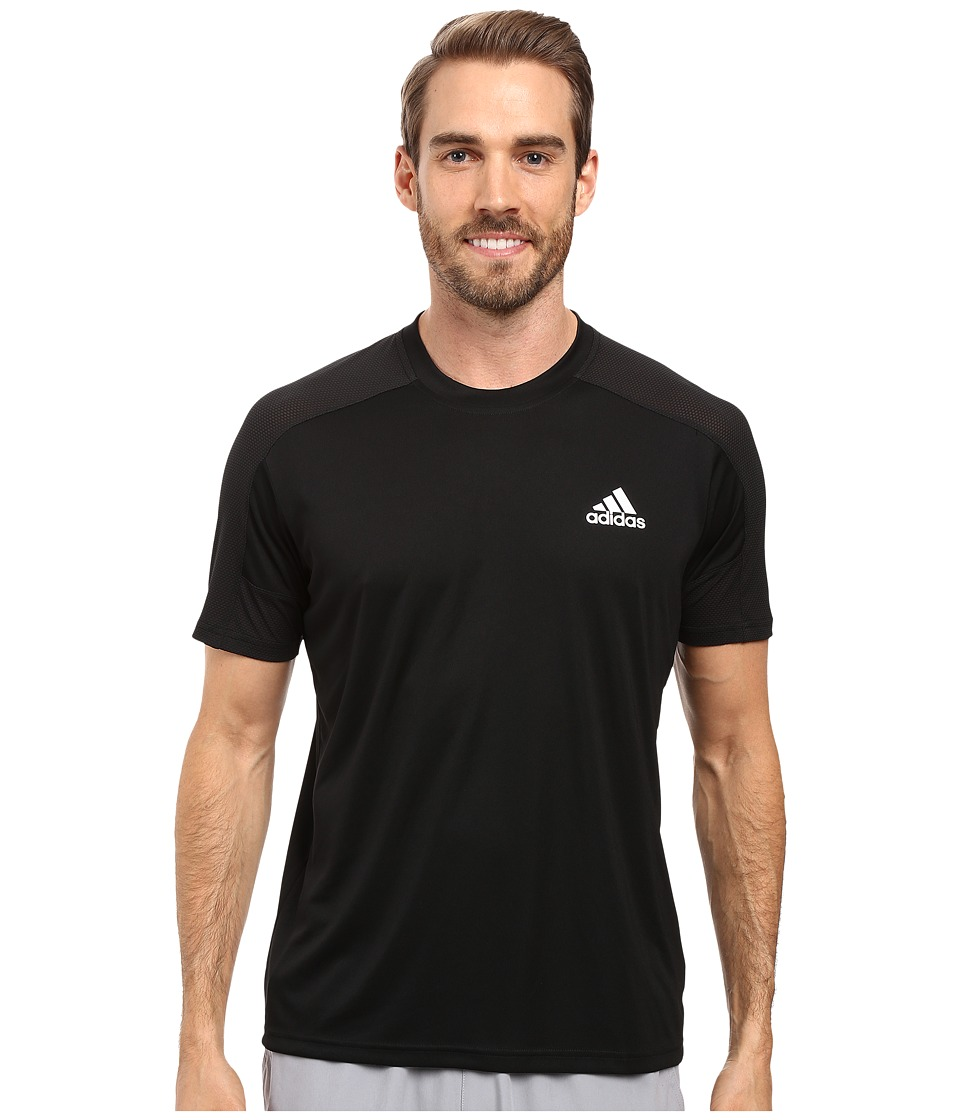 adidas - Climacore Short Sleeve Tee (Black/Black) Men's T Shirt