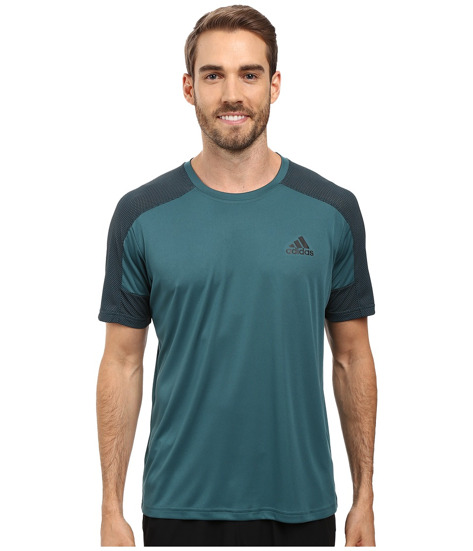 adidas - Climacore Short Sleeve Tee (Tech Green/Black) Men's T Shirt