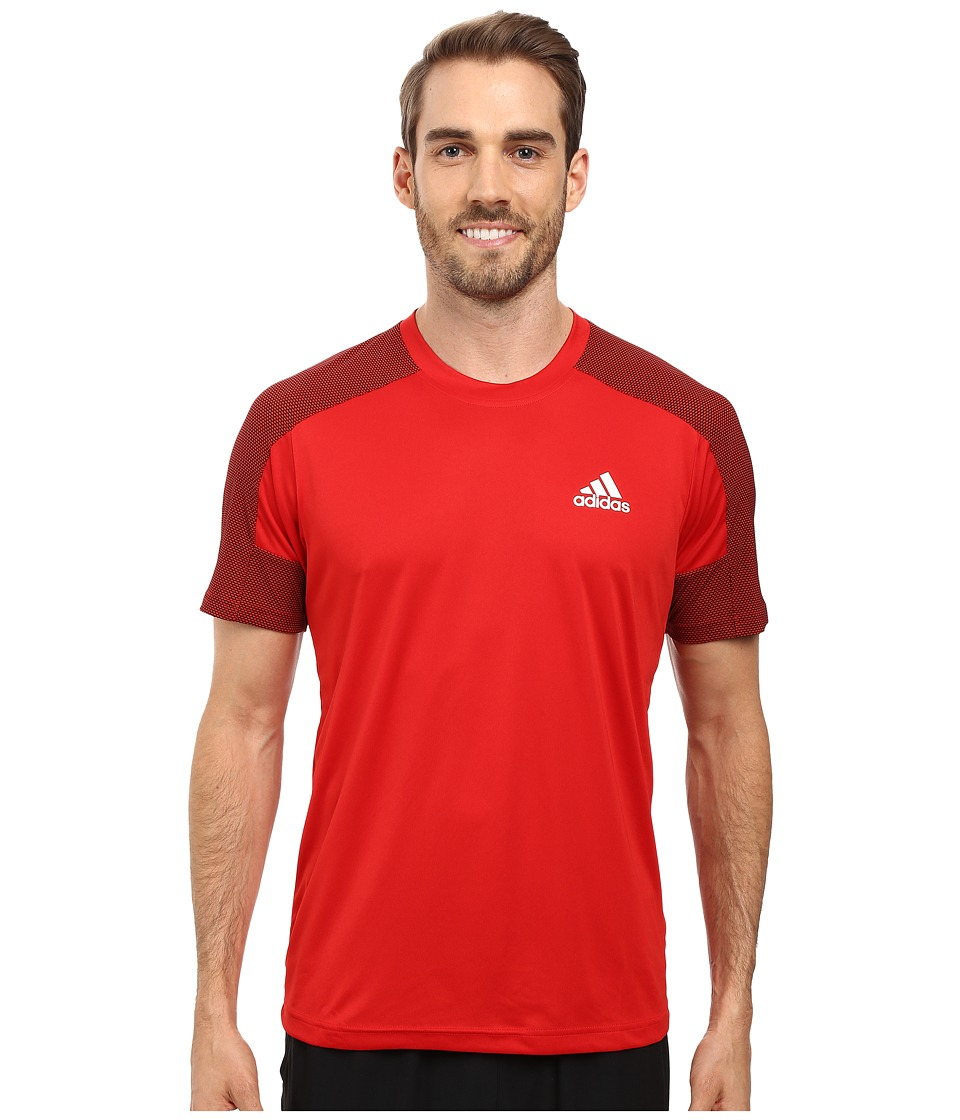 adidas - Climacore Short Sleeve Tee (Scarlet/Black) Men's T Shirt