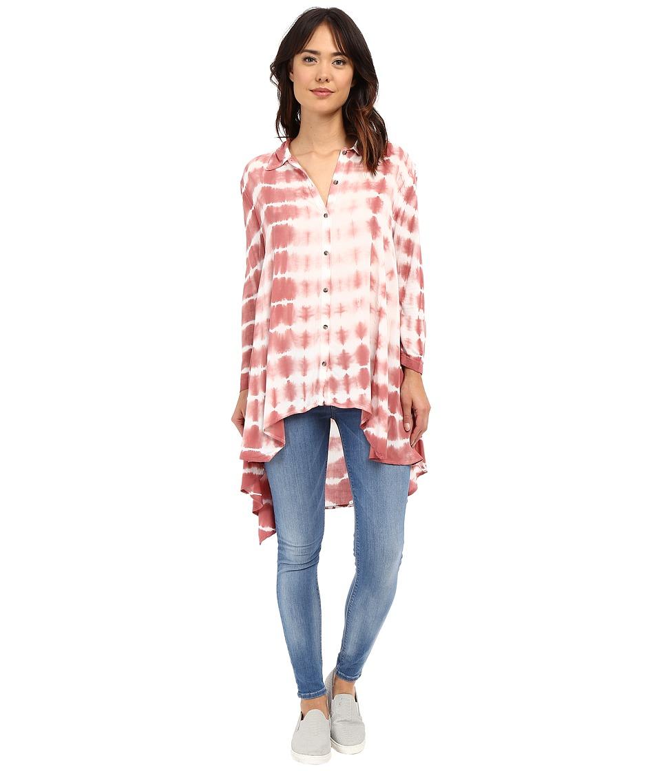 XCVI - Miyako Top (Bali Wash/Rose) Women's Clothing