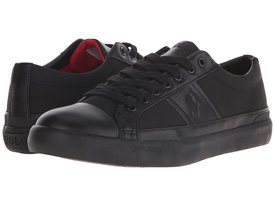 Polo Ralph Lauren - Churston (Black Pique Nylon) Men's Lace up casual Shoes