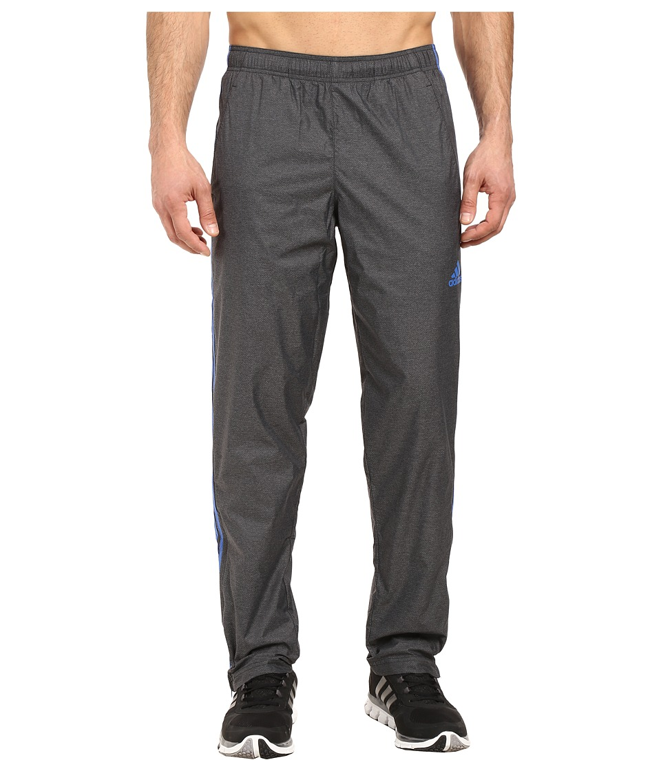 adidas - Essential Woven Track Pants (Black/Blue) Men's Casual Pants