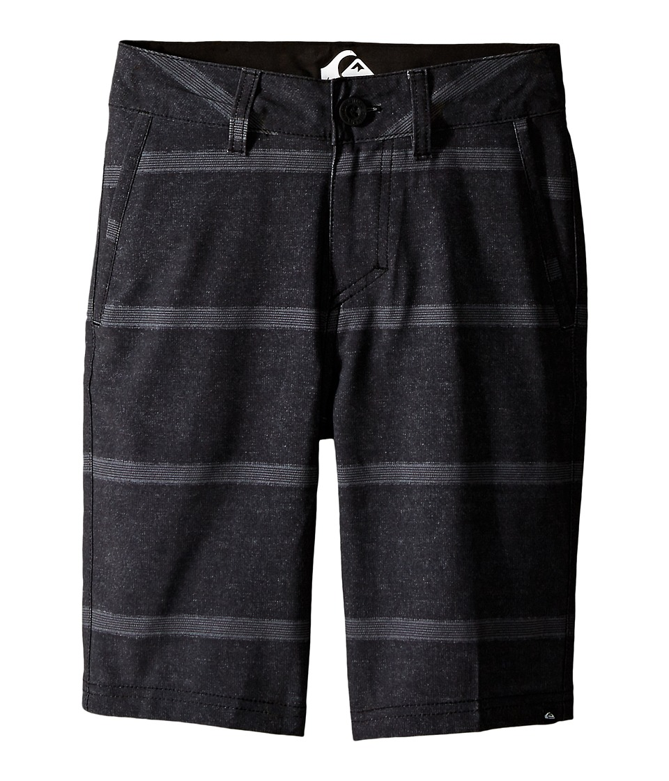 Quiksilver Kids - Stripes Amphibian Shorts (Big Kids) (Black) Boy's Shorts
