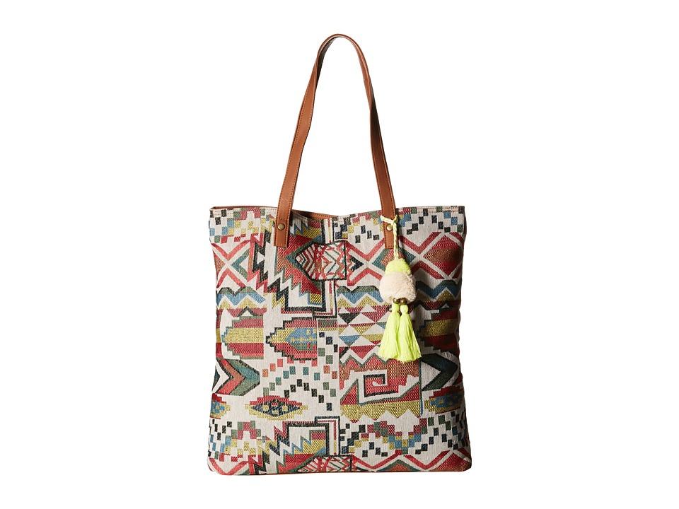 Gabriella Rocha - Hanna Printed Tote with Tassel (Multi) Tote Handbags