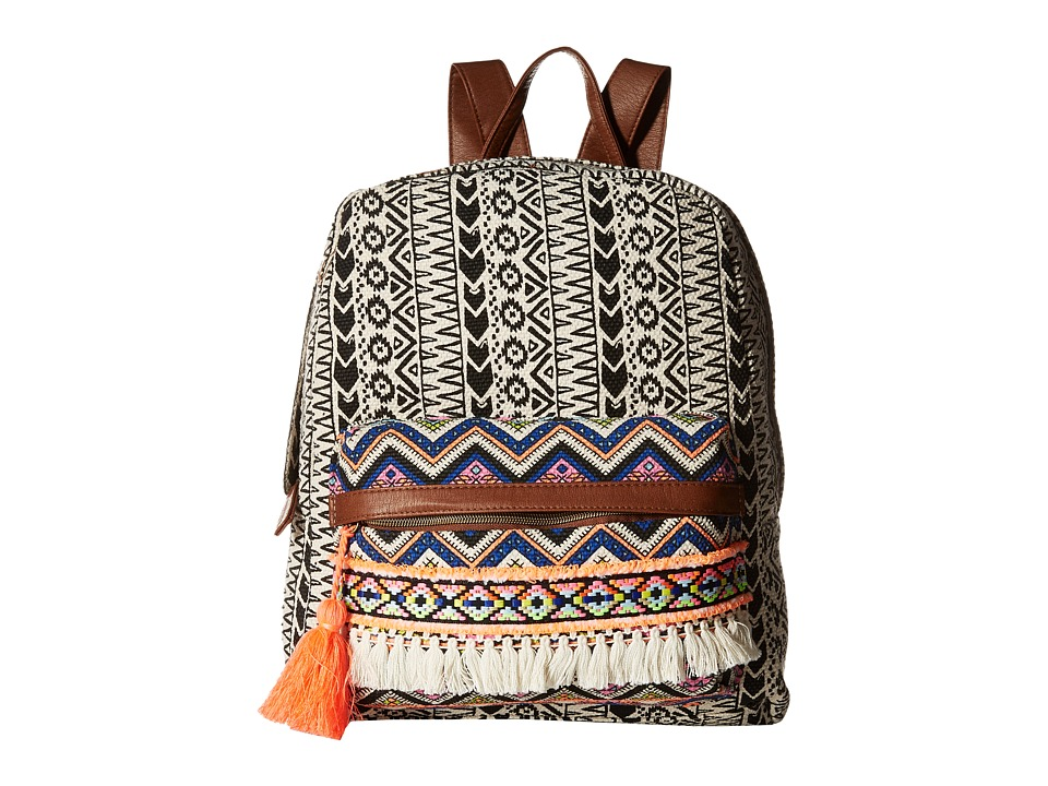 Gabriella Rocha - Delilah Printed Backpack with Tassel (Multi) Backpack Bags
