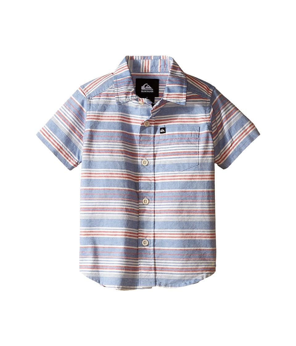 Quiksilver Kids - Rifter Shirts (Toddler) (Turkish Sea) Boy's Short Sleeve Button Up