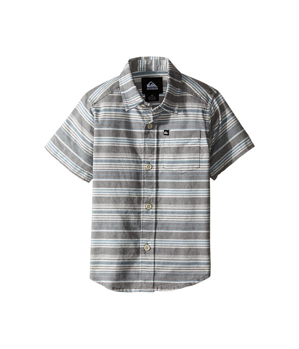 Quiksilver Kids - Rifter Shirts (Toddler) (Dark Shadow) Boy's Short Sleeve Button Up