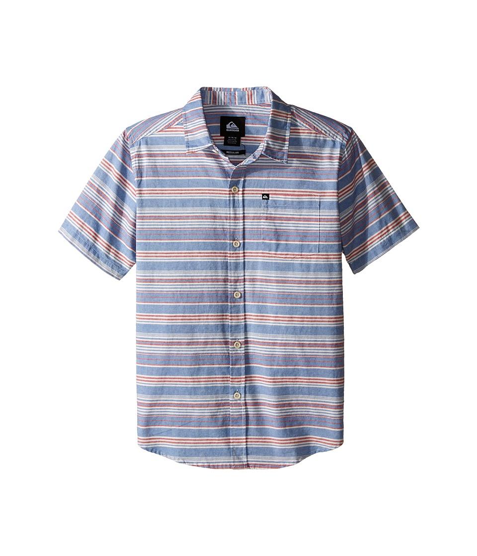 Quiksilver Kids - Rifter Shirts (Big Kids) (Turkish Sea) Boy's Short Sleeve Button Up