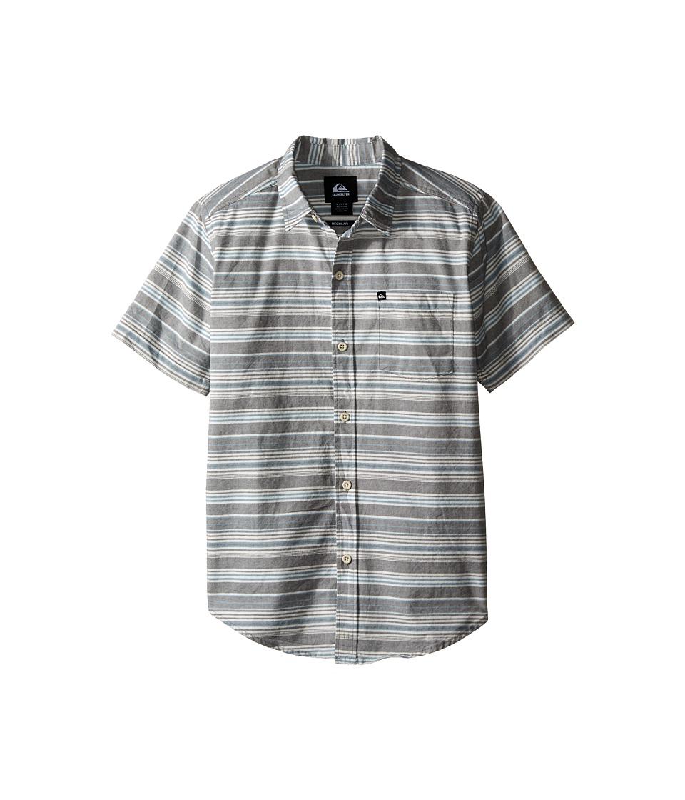 Quiksilver Kids - Rifter Shirts (Big Kids) (Dark Shadow) Boy's Short Sleeve Button Up