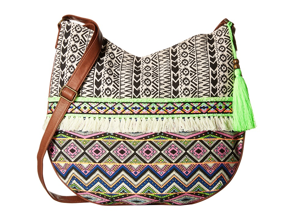 Gabriella Rocha - Ivy Printed Hobo Purse with Tassel (Multi) Hobo Handbags