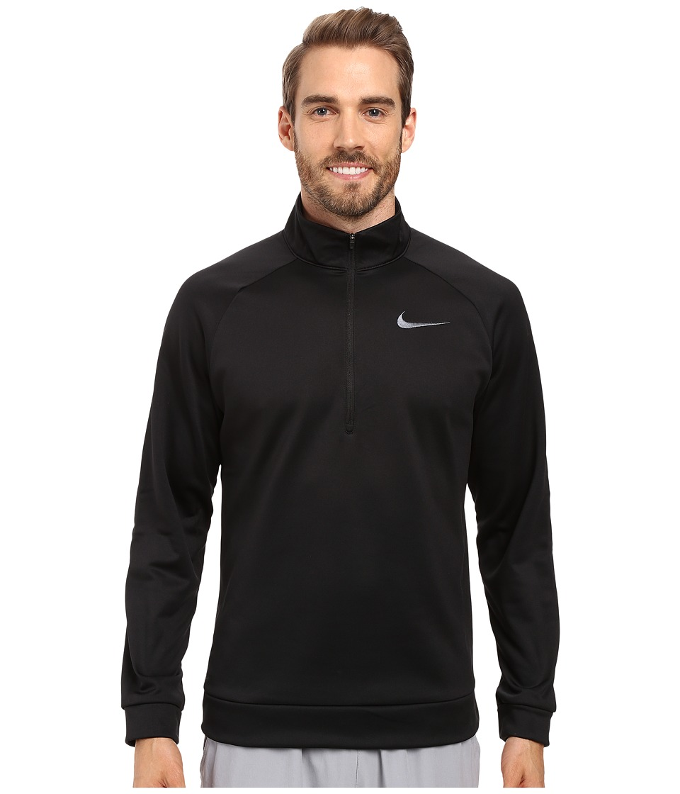 Nike Therma 1/4 Zip Pullover (Black/Dark Grey) Men