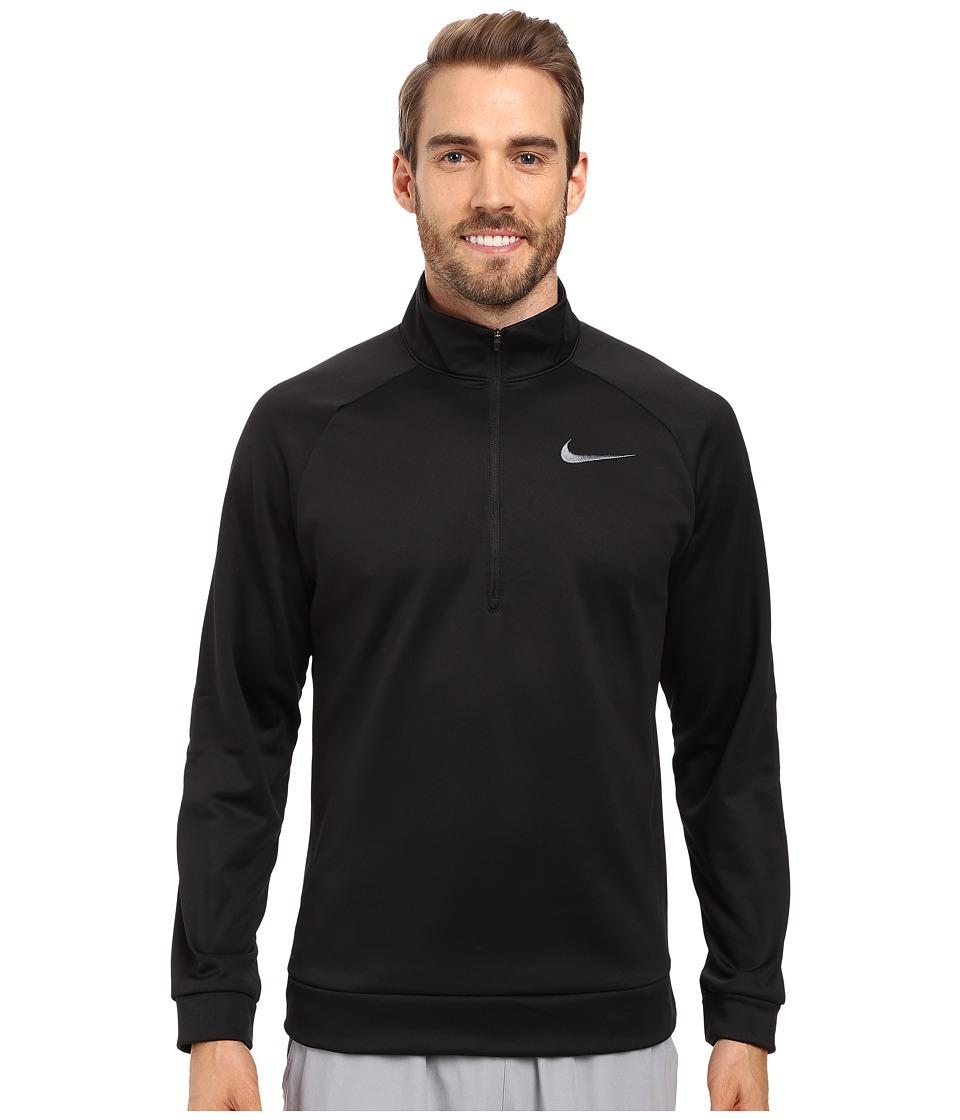 Nike - Therma 1/4 Zip Pullover (Black/Dark Grey) Men's Clothing