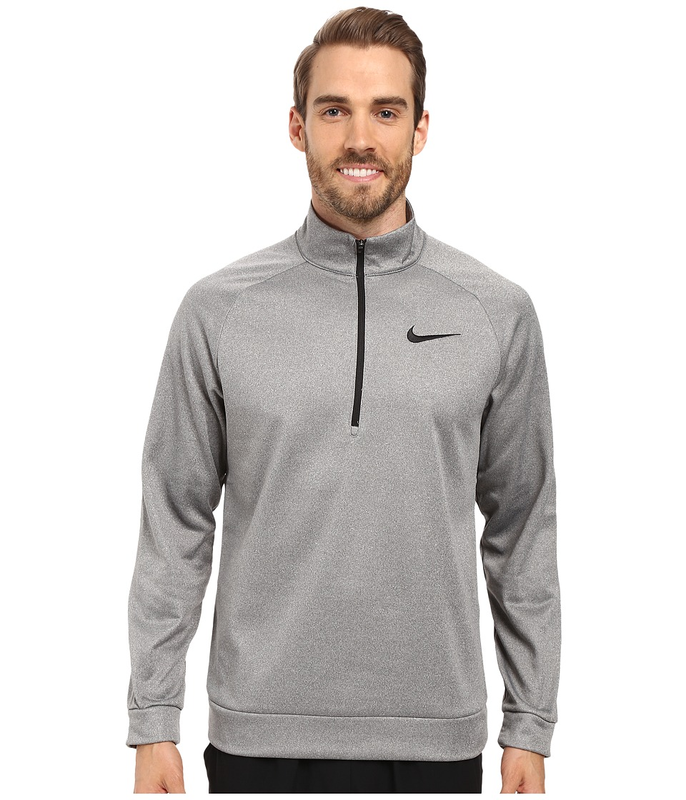 Nike - Therma 1/4 Zip Pullover (Carbon Heather/Black) Men's Clothing