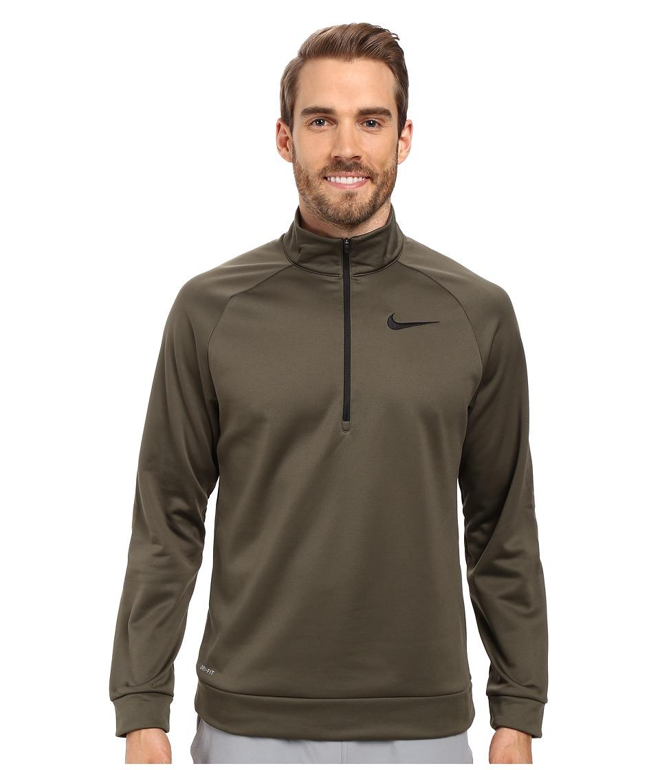 Nike - Therma 1/4 Zip Pullover (Cargo Khaki/Black) Men's Clothing