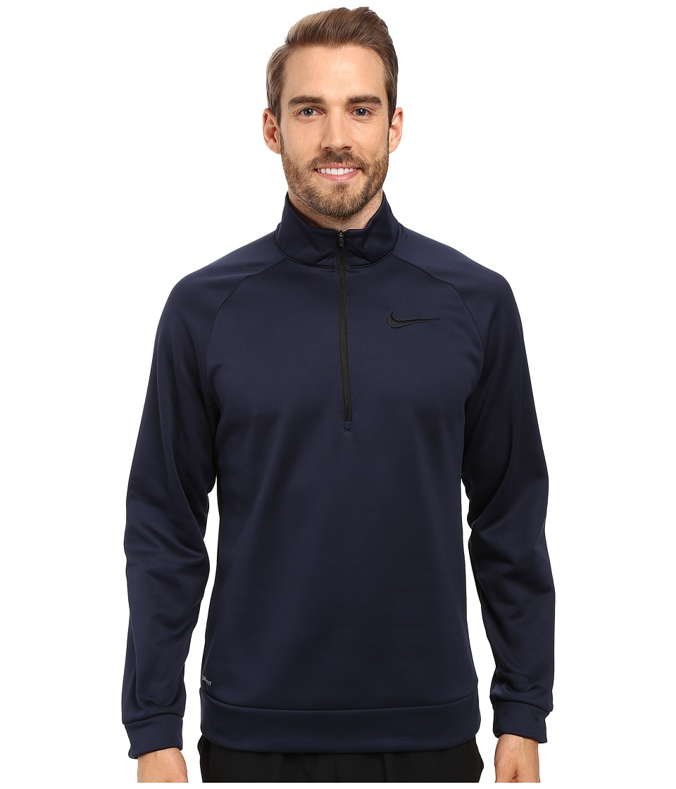Nike - Therma 1/4 Zip Pullover (Obsidian/Black) Men's Clothing