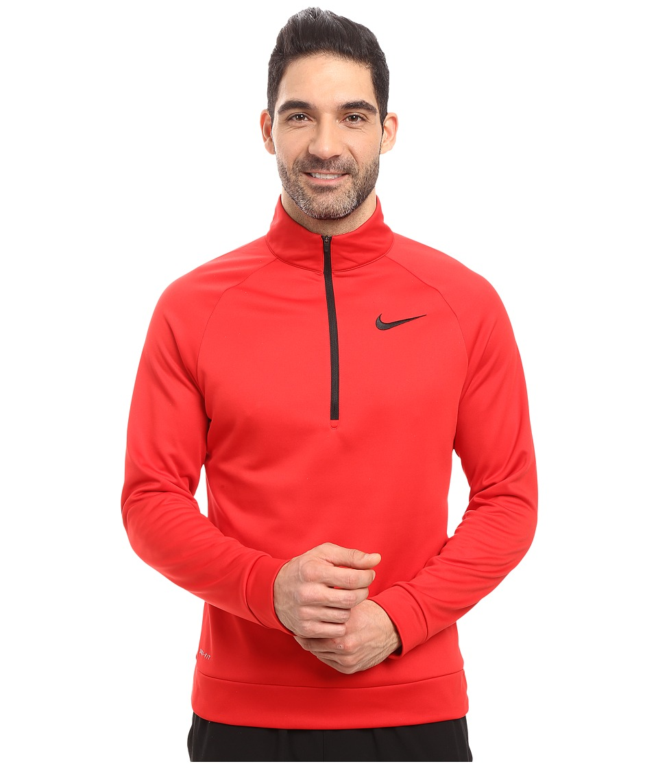 Nike - Therma 1/4 Zip Pullover (University Red/Black) Men's Clothing