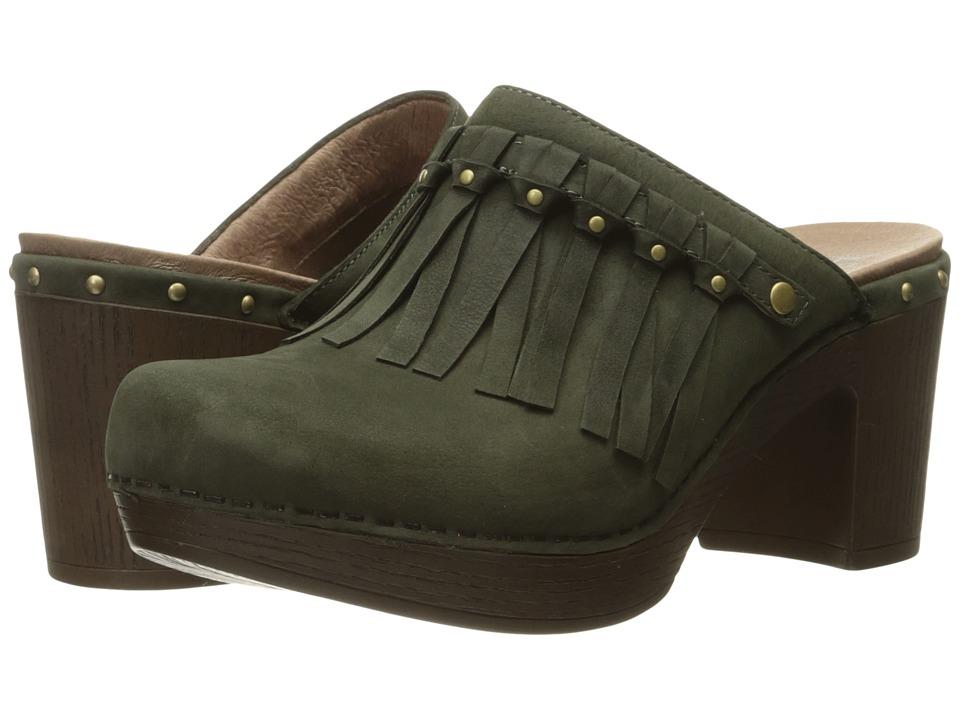 Dansko - Deni (Olive Milled Nubuck) Women's Clog Shoes